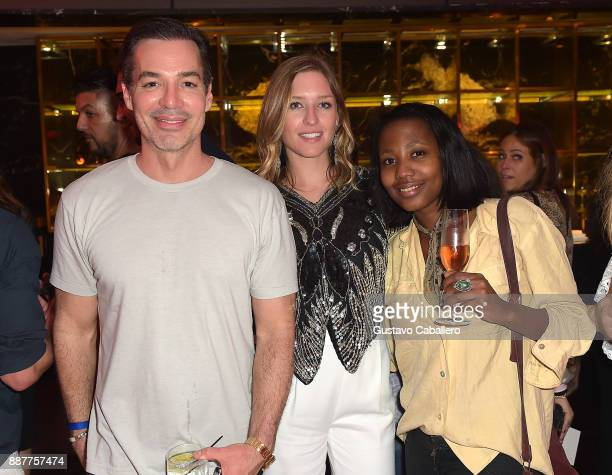 The Daily Front Row and Tinder After Dark celebrate at Faena Forum Mark Silver Lauren Probyn and guest on December 6 2017 in Miami Beach Florida