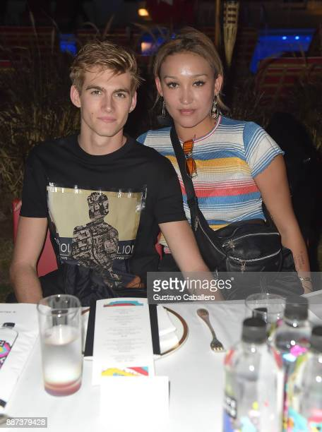 The Daily Front Row celebrates the Launch of Act1 with Presley Walker Gerber and Alana O'Herligy presented by LIFEWTR at Faena Hotel on December 6...