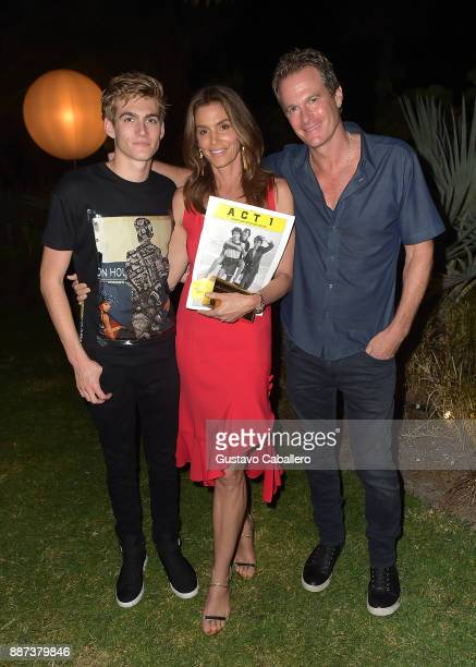 The Daily Front Row celebrates the Launch of Act1 with Presley Walker Gerber Cindy Crawford and Rande Gerber presented by LIFEWTR at Faena Hotel on...