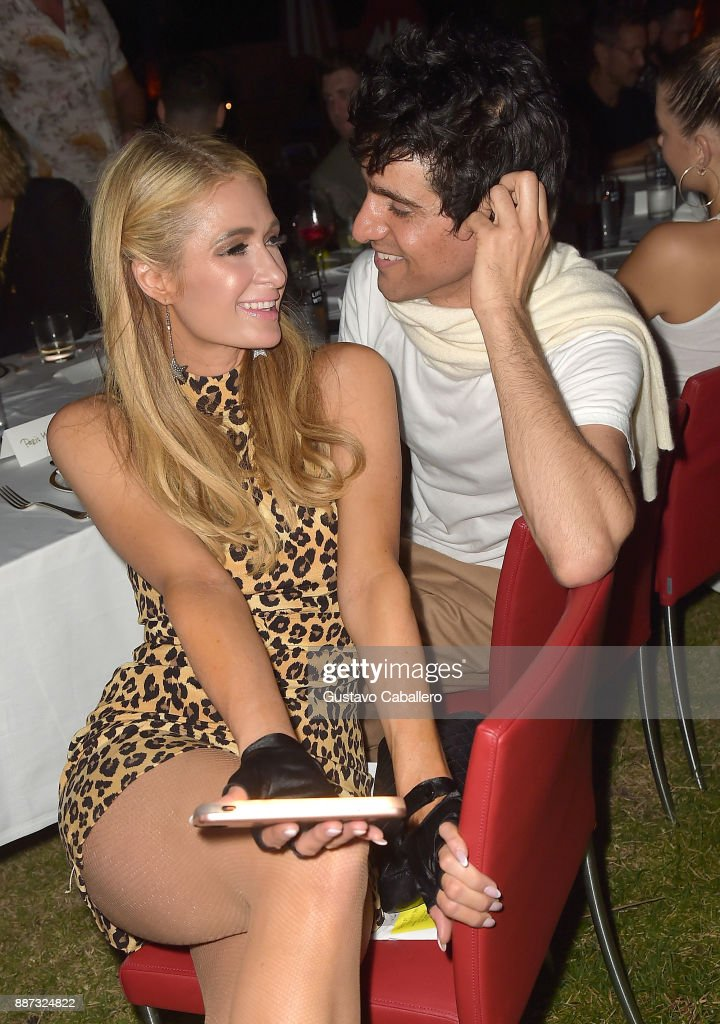 The Daily Front Row celebrates the Launch of Act1 with Sebastian Faena (L) and Paris Hilton presented by LIFEWTR at Faena Hotel on December 6, 2017 in Miami Beach, Florida.
