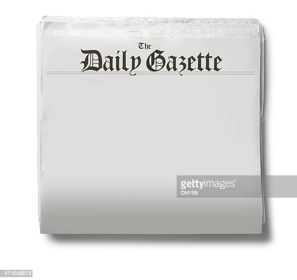 The Daily Gazette newspaper on a white background