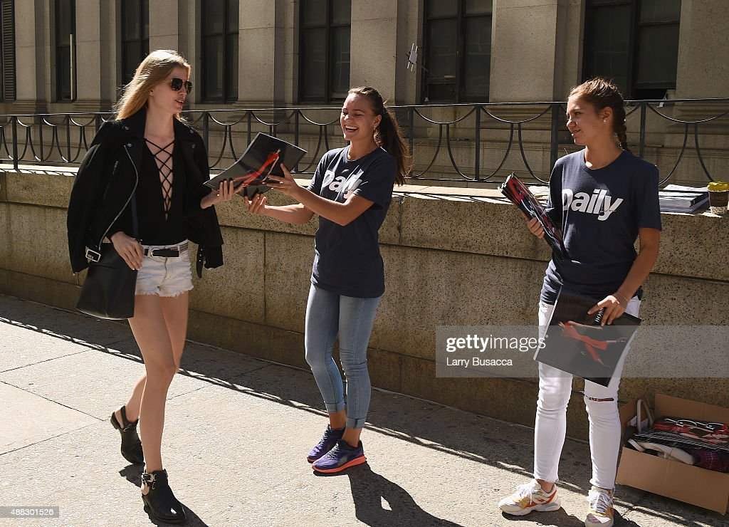 The Daily Seen Around Spring 2016 New York Fashion Week: The Shows - Day 6 on September 15, 2015 in New York City.