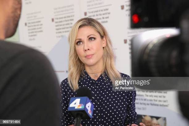 The Daily Show correspondent Desi Lydic attends Comedy Central's The Daily Show Presents The Donald J Trump Presidential Twitter Library in Los...