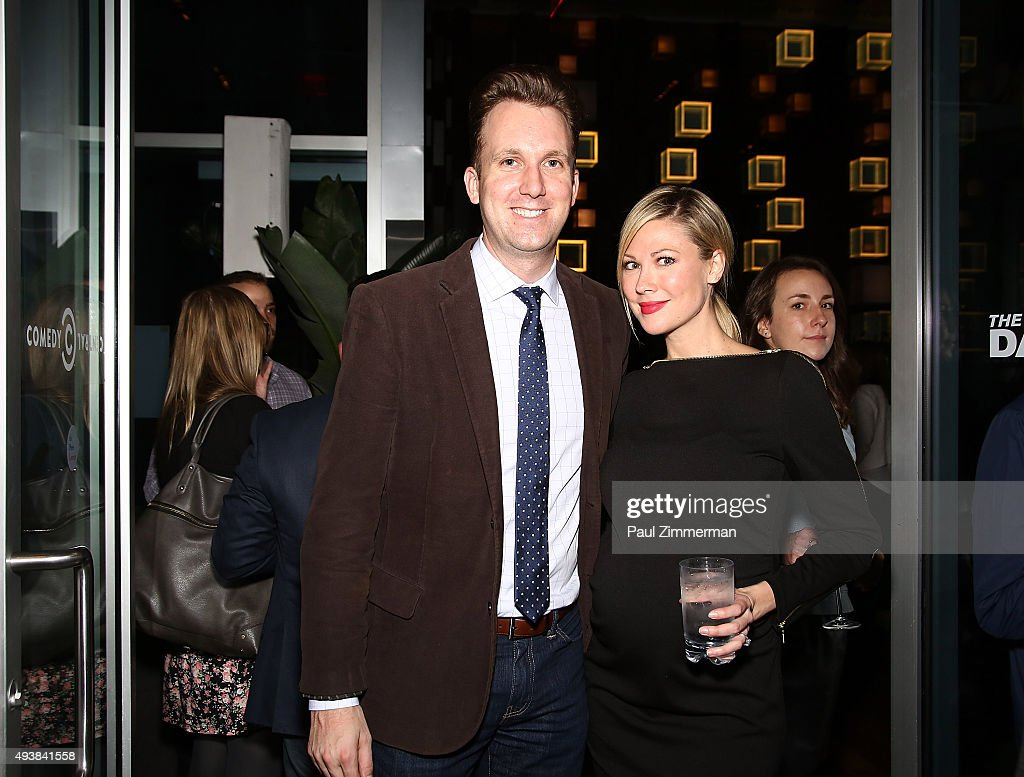 The Daily Show Correspondent Jordan Klepper (L) and The Daily Show Correspondent Desi Lydic attend Comedy Central's The Daily Show with Trevor Noah premiere party event on October 22, 2015 in New York City.