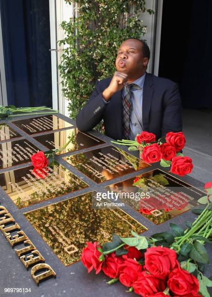 The Daily Show correspondent Roy Wood Jr attends Comedy Central's The Daily Show Presents The Donald J Trump Presidential Twitter Library in Los...