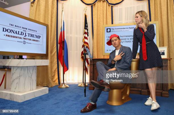 The Daily Show correspondents Ronny Chieng and Desi Lydic attend Comedy Central's The Daily Show Presents The Donald J Trump Presidential Twitter...