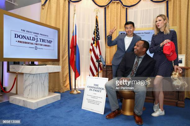 The Daily Show correspondents Ronny Chieng Roy Wood Jr and Desi Lydic attend Comedy Central's The Daily Show Presents The Donald J Trump Presidential...