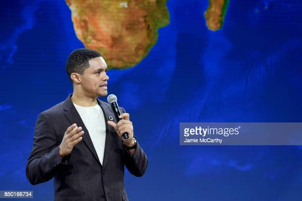 The Daily Show host Trevor Noah speaks at Goalkeepers 2017 at Jazz at Lincoln Center on September 20 2017 in New York City Goalkeepers is organized...