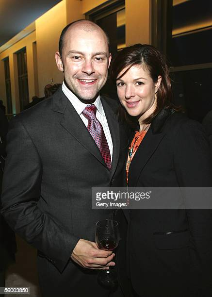 The Daily Show reporter Rob Corddry and his wife Sandra attend the VIP opening of the Top of the Rock the observation deck at Rockefeller Center...