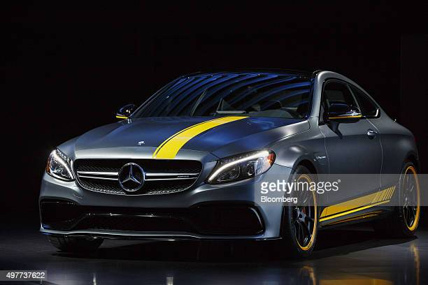 The Daimler AG MercedesBenz AMG C63 S Coupe performance vehicle is displayed the Los Angeles Auto Show in Los Angeles California US on Wednesday Nov...
