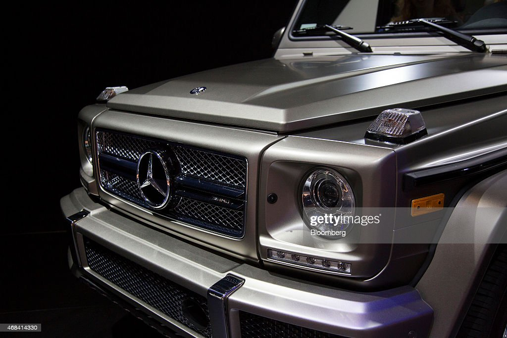 The Daimler AG Mercedes-Benz G65 AMG vehicle is displayed during the 2015 New York International Auto Show in New York, U.S., on Thursday, April 2, 2015. The 115th New York International Auto Show, which runs from April 3-12, will reveal 60 plus cars and trucks as well as host a wide range of industry events attracting automobile executives and members of the media from around the world. Photographer: Michael Nagle/Bloomberg via Getty Images
