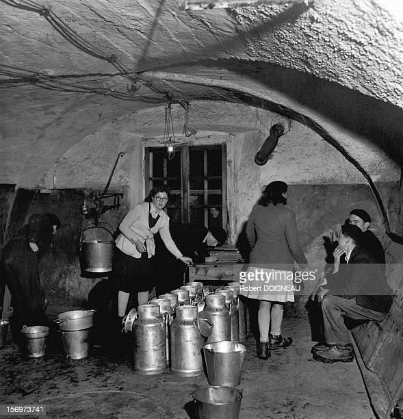 The dairy, 1947 in Saint-Veran, France.
