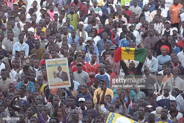 The Dakar stadium during the ceremony