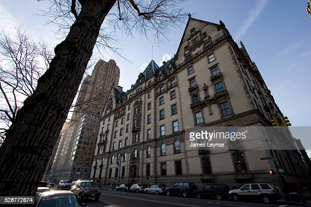 The Dakota building at 1 W 72nd Street and Central Park West The landmarked building built in 1884 and designed by Henry J Hardenbergh was home to...