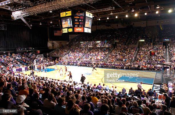 The Dakota Wizards and the Colorado 14ers play in a full Bismarck Civic Center during the DLeague Championship game on April 29 2007 at Bismarck...