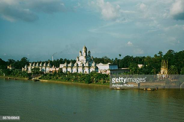 The Dakshineswar Kali Temple a Hindu temple on the banks of the Hooghly River in Dakshineswar near Kolkata India circa 1965