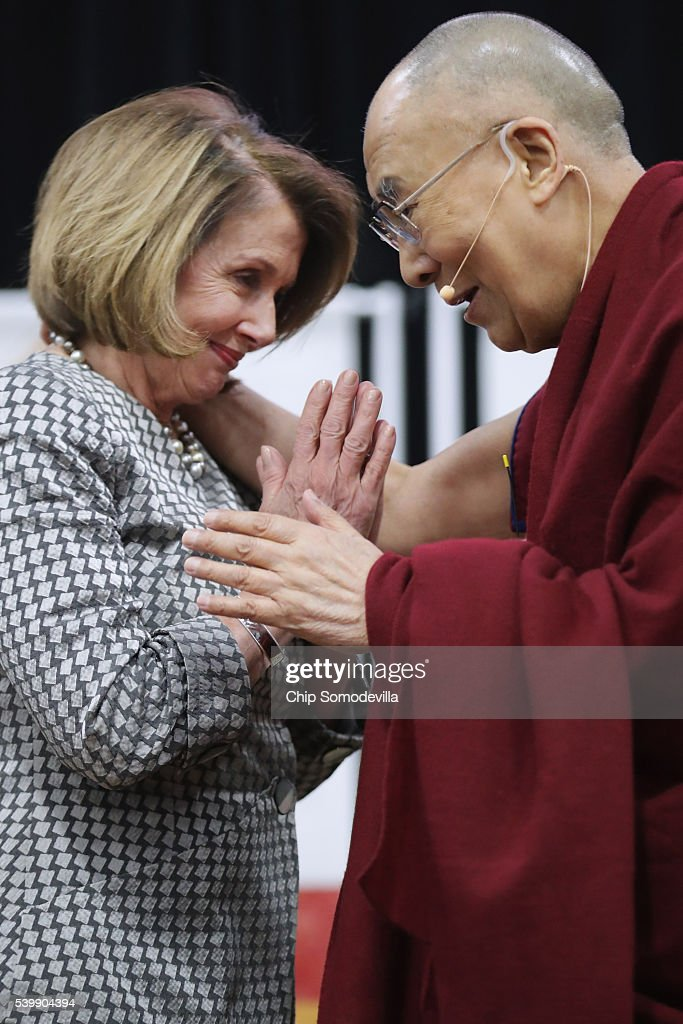 Dalai Lama Delivers Address In Washington DC