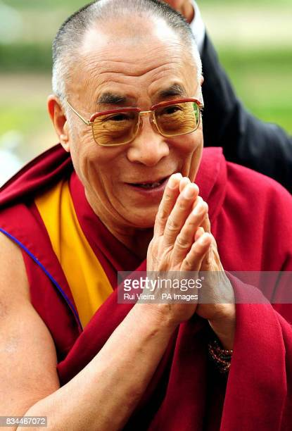 The Dalai Lama arrives for a reception in the Colwick Hall Hotel Nottingham