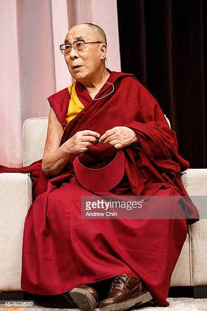 The Dalai Lama attends HeartMind Youth Dialogue at John Oliver Secondary School on October 21 2014 in Vancouver Canada