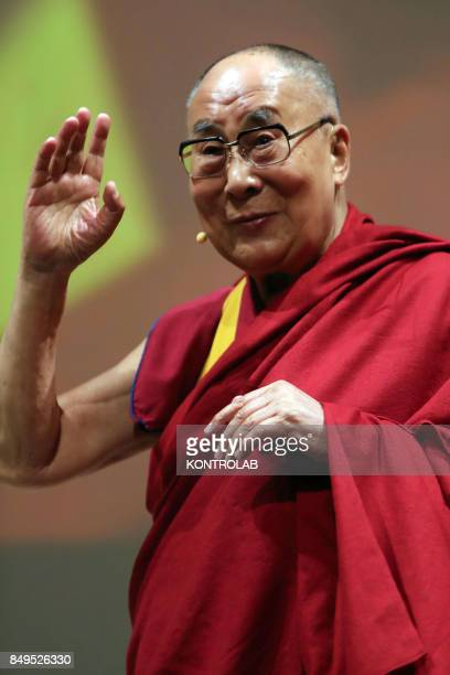 The Dalai Lama in Palermo during the visit to the city and to Sicily southern Italy