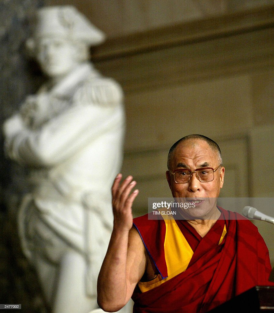 The Dalai Lama makes remarks during an e : News Photo
