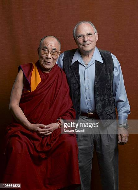 The Dalai Lama poses for a studio portrait with psychologist Paul Ekman in 2008 in Seattle Washington
