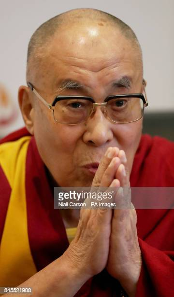 The Dalai Lama speaking at the City Hotel in Londonderry