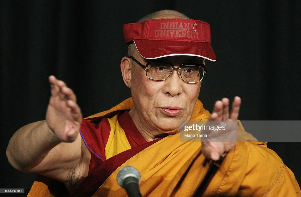 The Dalai Lama speaks at a press conference at Radio City Music Hall during a break between teachings May 20, 2010 in New York City. The Tibetan spiritual leader will deliver three days of teachings at Radio City followed by an interfaith dialogue at the Church of St. John the Divine on Sunday.