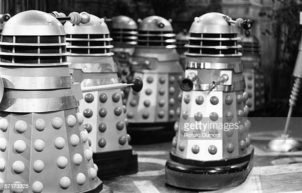 The Daleks run riot in the British science fiction television series 'Doctor Who' 28th September 1964