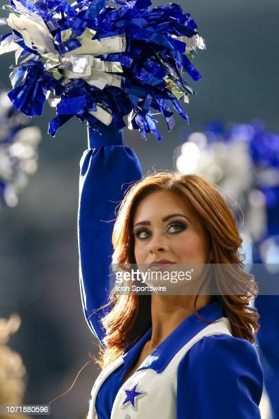 The Dallas Cowboys Cheerleaders perform during the game between the Philadelphia Eagles and Dallas Cowboys on December 9 2018 at ATT Stadium in...