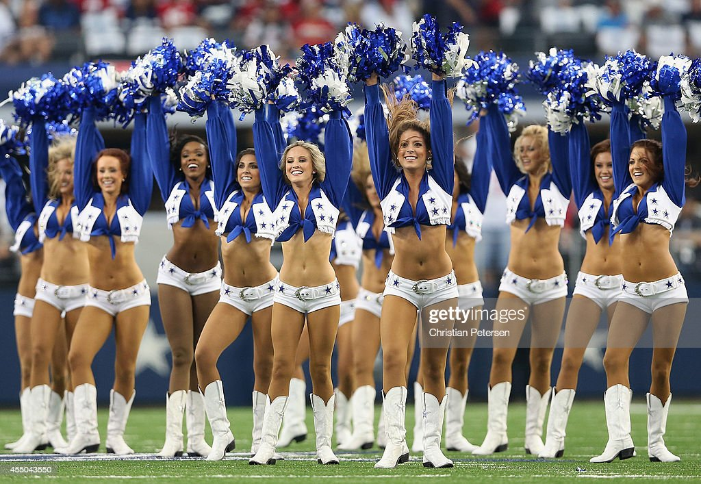 b2a3bfda The Dallas Cowboys cheerleaders perform during the NFL game against ...