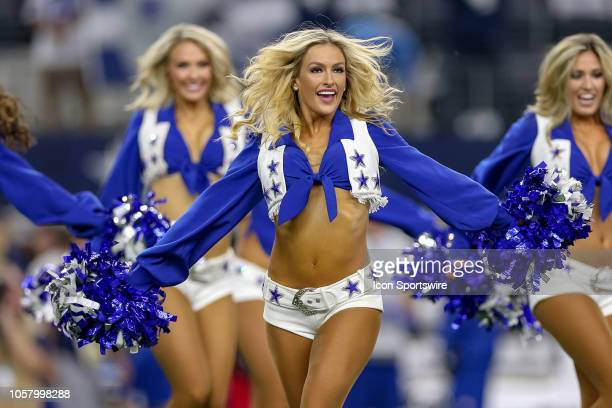 The Dallas Cowboys Cheerleaders perform prior to the game between the Tennessee Titans and Dallas Cowboys on November 5 2018 at ATT Stadium in...