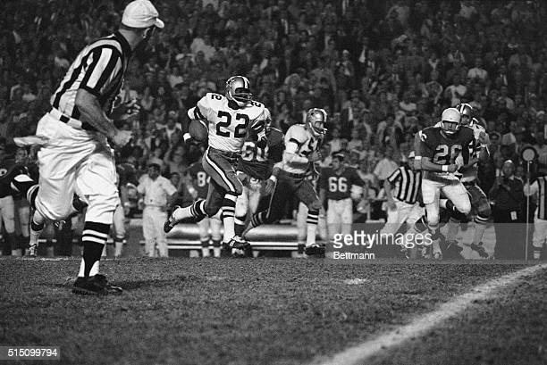 The Dallas Cowboys had not had a punt return for a touchdown since 1964 So when 'Bullet' Bob Hayes whipped this one back through a couple of crowds...