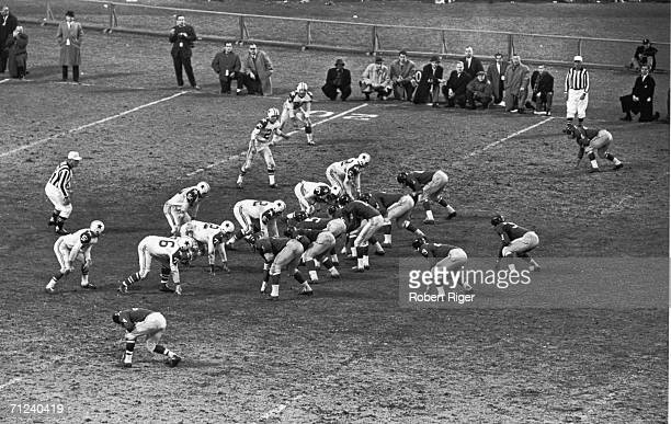 The Dallas Cowboys line up against the New York Giants New York New York December 4 1960 The game ended in a draw 3131 and marked the only game that...