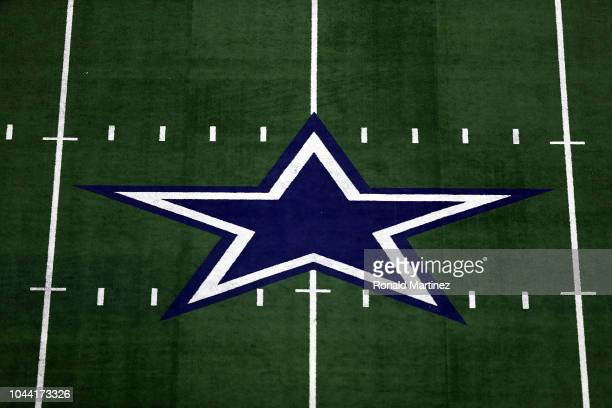 The Dallas Cowboys logo at ATT Stadium on September 30 2018 in Arlington Texas