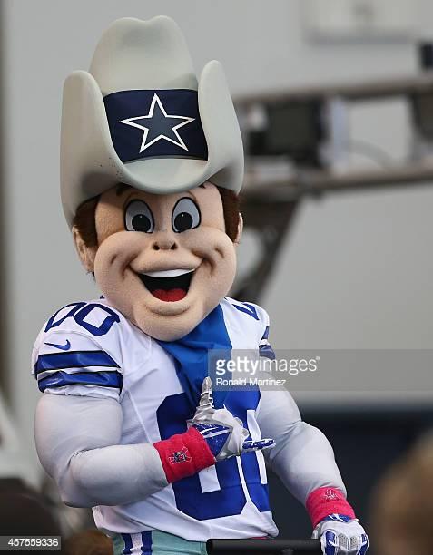 The Dallas Cowboys mascot Rowdy at ATT Stadium on October 19 2014 in Arlington Texas