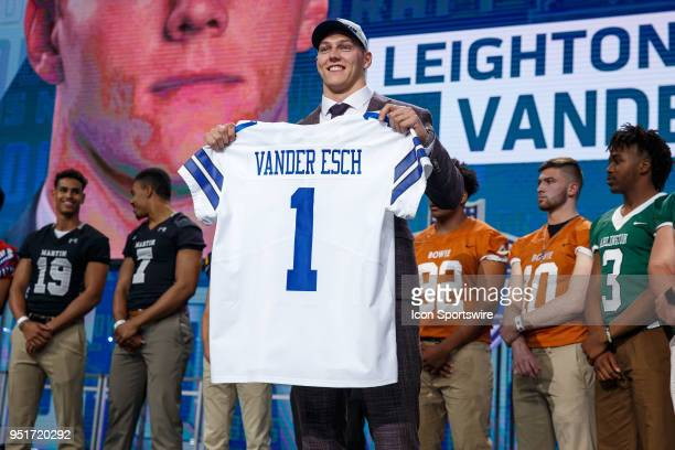 The Dallas Cowboys select Boise State Linebacker Leighton Vander Esch nineteenth overall during the first round of the NFL Draft on April 26, 2018 at...