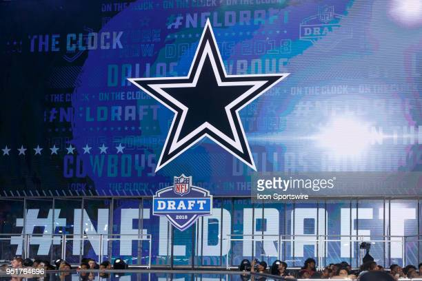 The Dallas Cowboys star is displayed as they are on the clock during the first round of the NFL Draft on April 26 2018 at ATT Stadium in Arlington TX