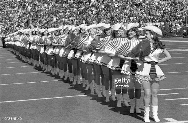 The Dallas Rangerettes entertaining at the Superbowl.