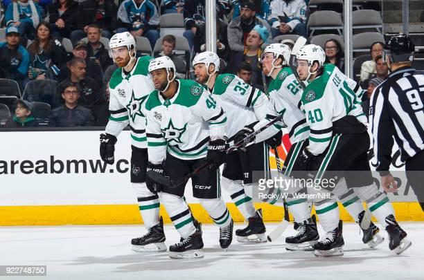 The Dallas Stars skate against the San Jose Sharks at SAP Center on February 18 2018 in San Jose California