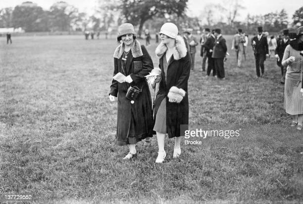 The Daly sisters in the paddock at Epsom Downs Racecourse, Surrey, 26th May 1925.