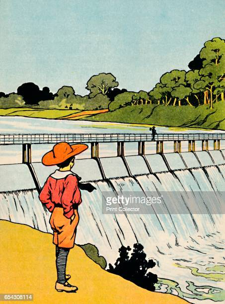 The Dam 1912 From More About The Empire by Alice Talwin Morris [Blackie and Son Limited London Glasgow and Bombay 1912] Artist Charles Robinson