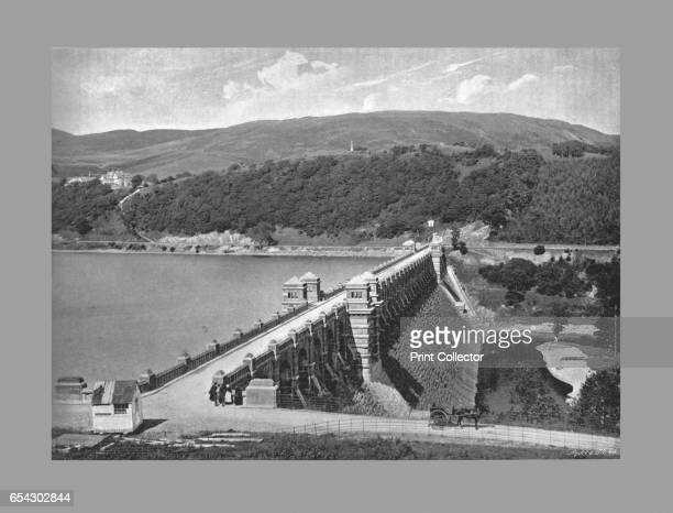 The Dam Lake Vyrnmy c1900 Lake Vyrnwy is a reservoir in Powys Wales Its stonebuilt dam built in the 1880s was the first of its kind in the world From...