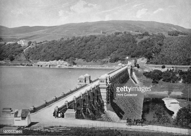 The Dam Lake Vyrnwy' circa 1896 From Pictorial England and Wales [Cassell and Company Limited London Paris Melbourne circa 1896] Artist Valentine Sons