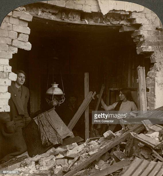 The damage done by a German Zeppelin bomb World War I 19141918 The Germans launched Zeppelin raids against various locations in Britain including...