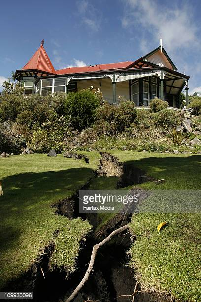 The damaged home of Wendy and Bob Perry at Kinsey Terrace in Sumner following after Christchurch was rocked by a 63 magnatude earthquake on February...