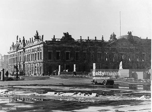 The damaged Zeughaus in Unter den Linden in Berlin after the end of World War II