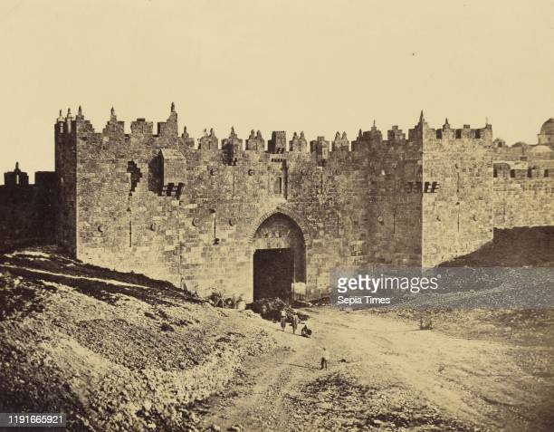 The Damascus Gate, James Robertson , Felice Beato , Antonio Beato , Jerusalem, Palestine Albumen silver print, 24.1 x 31.3 cm