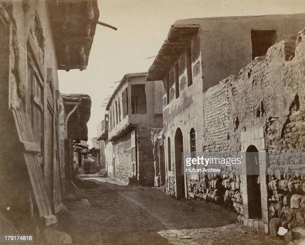 The Damascus Straight Street in Damascus Syria circa 1880 It runs from east to west in the old part of the city and is mentioned in Acts 9 of the...