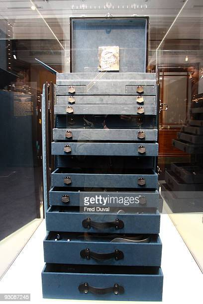 The Damien Hirst limited edition Louis Vuitton medical cabinet is diplayed at Sotheby's on November 16 2009 in London England Louis Vuitton and...